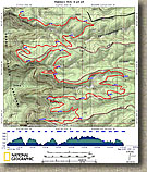 Rainbow Rim Trail Map by Dale Wiggins
